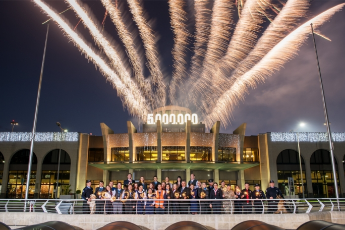 5 million and counting! MIA's fireworks display celebrates a new milestone