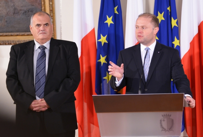 Prime Minister Joseph Muscat (right) has ordered an inquiry into the CapitalOne investigation, which might raise questions as to what decision former assistant commissioner Michael Cassar (left) took during the investigation