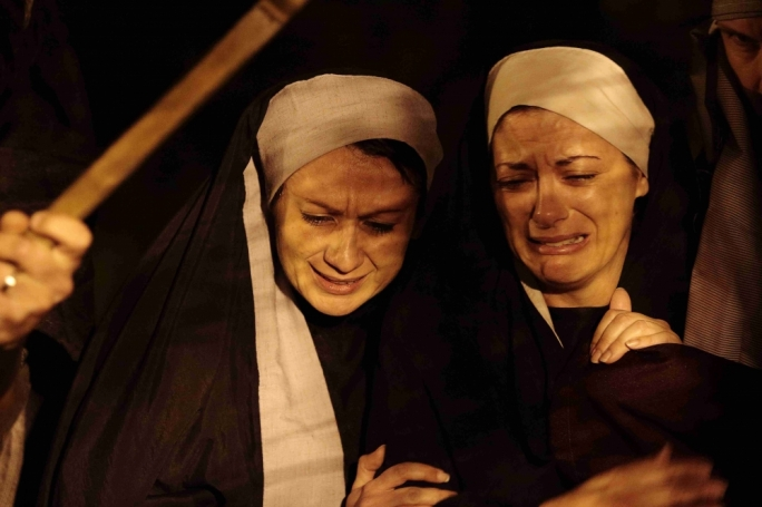 Michelle Zerafa as Mary Magdalene and Moira Muscat as Mary Mother of Christ