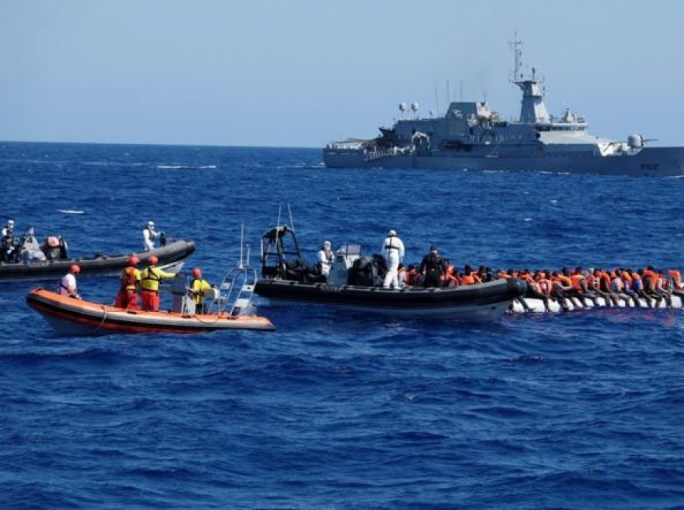 Migrant rescue ship idling between Italy, Malta as both countries refuse entry