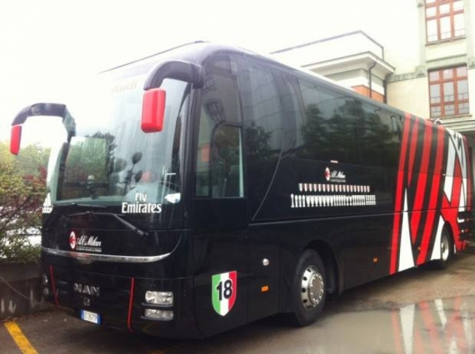 The AC Milan team bus that was sold for €150,000