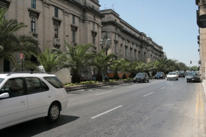 Floriana's St Anne Street is a major high-emission zone with traffic flowing in and out of Valletta on a daily basis. Photo: Denise Scicluna/Mediatoday.