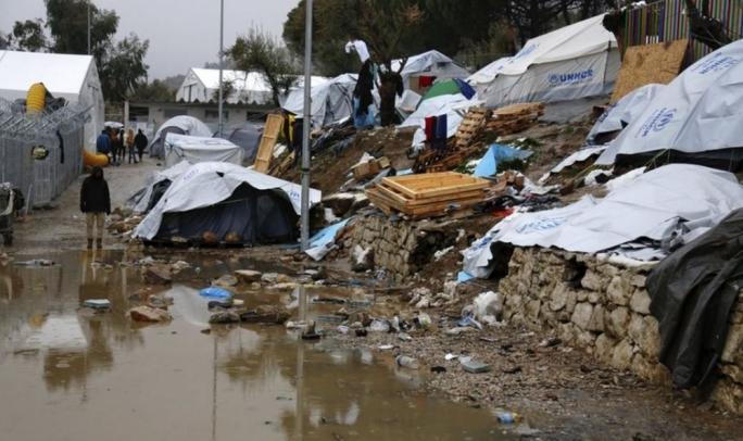 Moria Refugee camp on the island of Lesvos (Photo: Petros Tsakmakis/AP)
