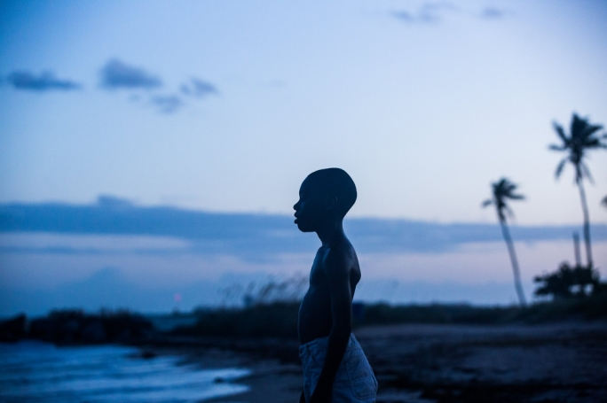 Alex Hibbert as the young Chiron in the award-winning coming of age story, Moonlight