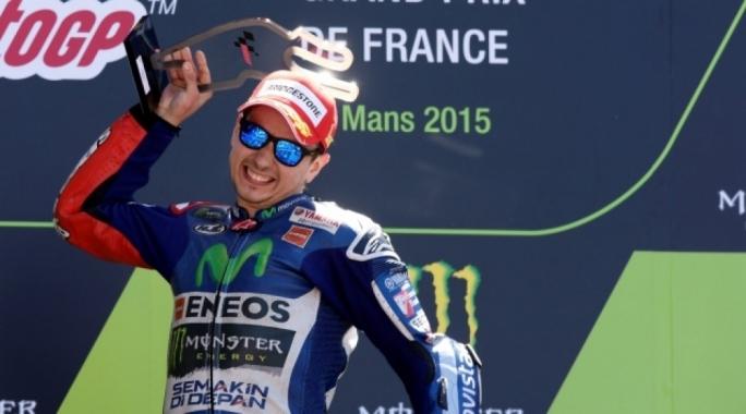 Jorge Lorenzo celebrates