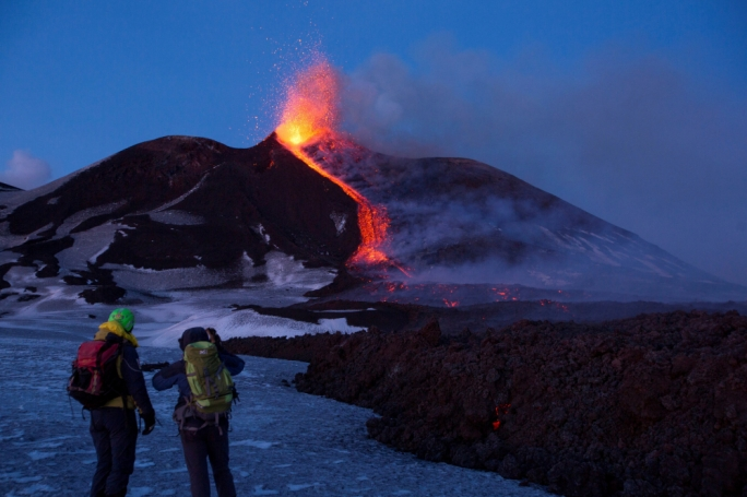 Italy's Mount Etna spewing lava and ash