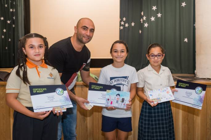 Winner Anthea Mamo (left) and the two runners-up Faye Galea and Kirsten Azzopardi (Photo: Malta Public Transport)