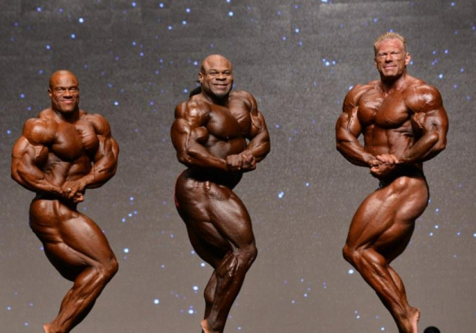 Phil Heath, Kai Greene and Dennis Wolf