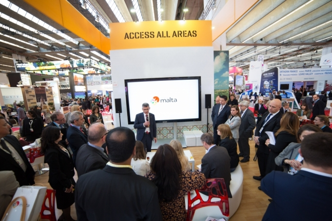 MTA chief executive Paul Bugeja launches Conventions Malta in Franfkurt