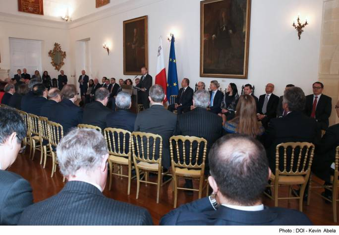 Prime Minister Joseph Muscat addressing the foreign diplomats in Malta