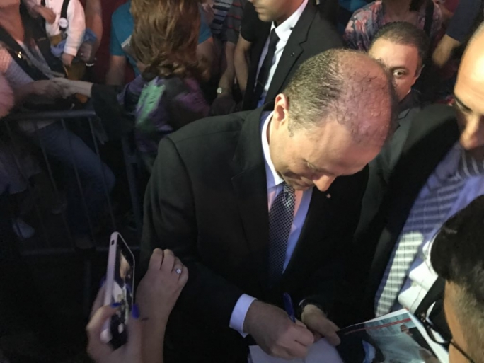 Celebrity welcome for Joseph Muscat in Haz-Zebbug, pictured here signing copies of his book Joseph: L-aqwa zmien ta pajjizna ghadu gej