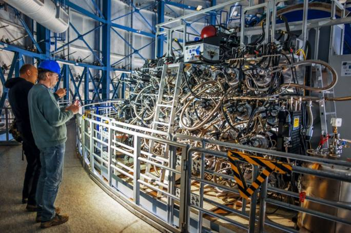 The very complex MUSE instrument (Photo: A. Tudorica/ESO)