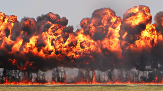 Napalm derives its name from the two chemicals that constitute it, naphthenic and palmitic acids