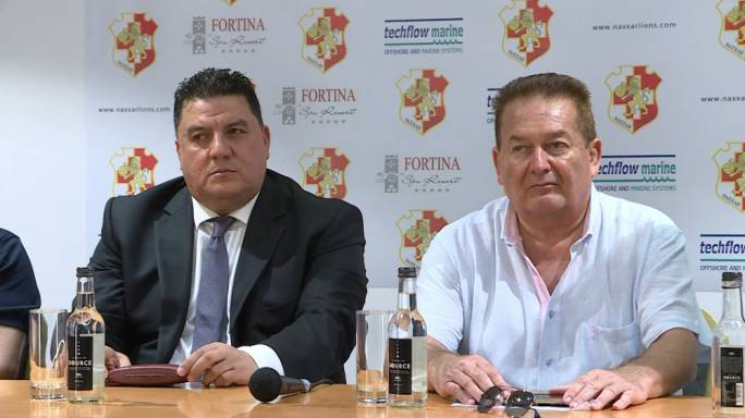 Another proud supporter of Naxxar Lions, the Syrian 'billionaire' Yahya Kirdi (left) by the side of hotelier Michael Zammit Tabona