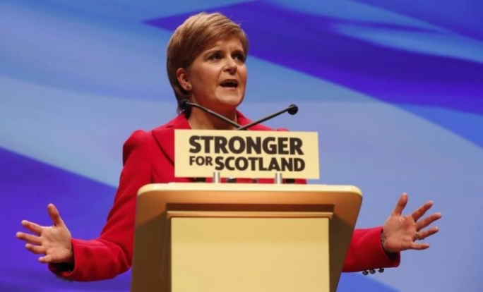 Nicola Sturgeon's ruling Scottish National Party says Britain's overall decision to leave the EU last June has created the conditions for another independence vote