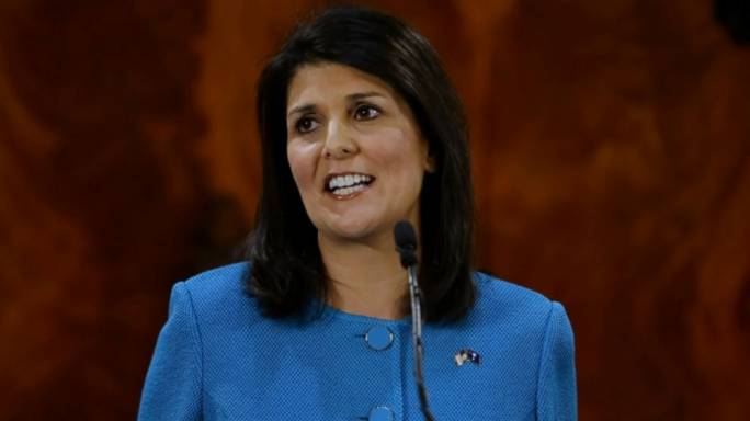 U.S. United Nations Ambassador Nikki Haley