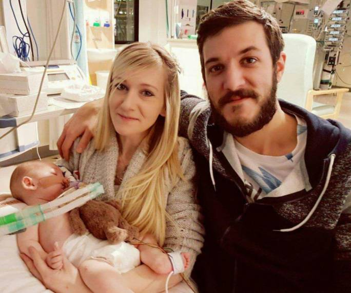 Charlie Gard with his parents, Connie Yates and Chris Gard