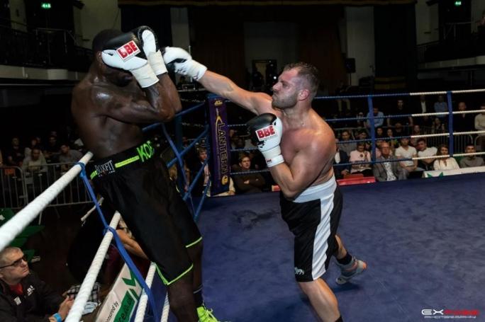 Noel Lebrun (R) easily defeated Mark Koffi