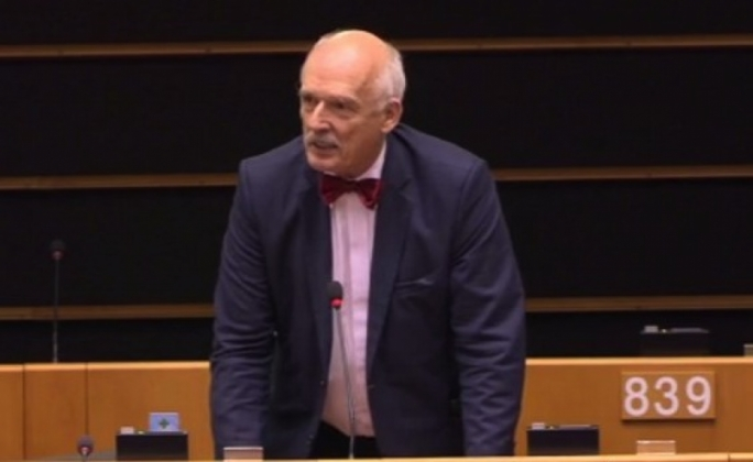 Janusz Korwin-Mikke caused uproar when he launched a sexist tirade during a 1 March debate in the parliament on the gender wage gap