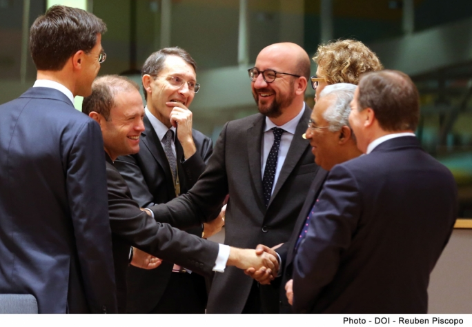 EU leaders during this morning's session