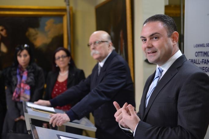 Justice Minister Owen Bonnici and former ECHR judge Giovanni Bonello (Photo: Ray Attard)