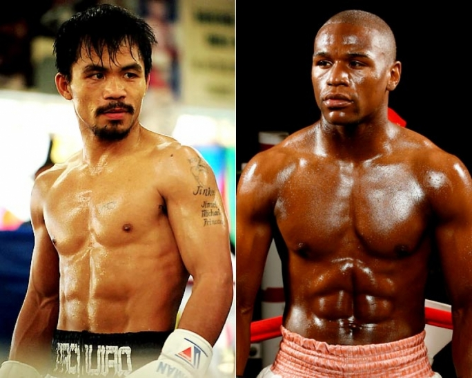 Manny Pacquiao and Floyd Mayweather Jnr.