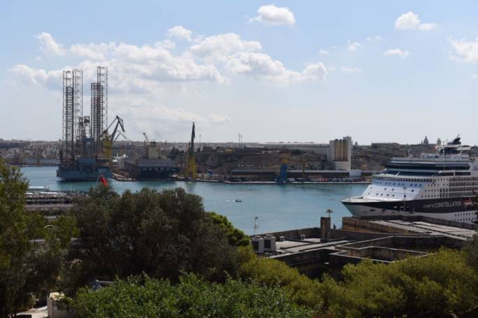 The oil rig has been berthed at Palumbo for more than a year