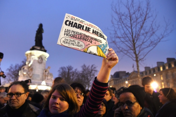 People rallied in France as a show of defiance after terrorists gunned down journalists from satirical magazine Charlie Hebdo