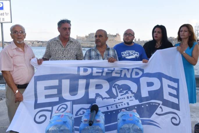 Moviment Patrijotti Maltin said it was forced to undertake a dangerous humanitarian mission because the government refused the C-Star entry to malta