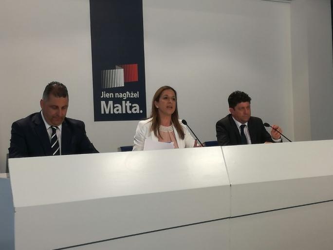 From left: Robert Cutajar, Paula Mifsud Bonnici and Stephen Spiteri