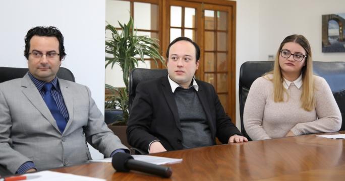 Prof Frank Bezzina, Dr Vincent-Anthony Marmara and Andrea Mallia
