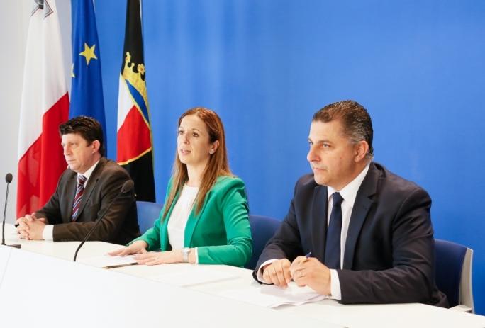 Opposition MPs Stephen Spiteri, Paula Mifsud Bonnici and Robert Cutajar