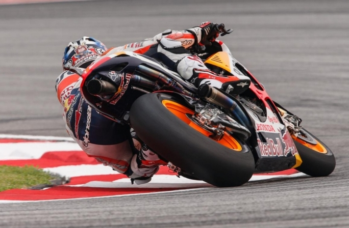 Dani Pedrosa stormed to his first MotoGP pole position in over a year
