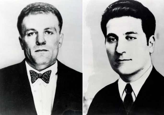 Up to no good: Philip Ellul and Victor Spampinato were members of the Syndicate, who were later found guilty of the murder of Thomas Smithson (above)