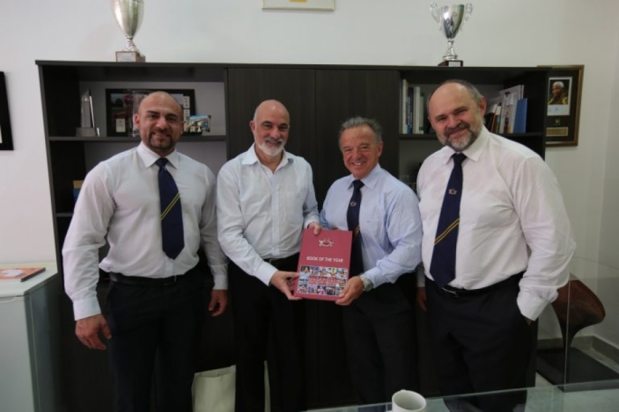From left to right: Ralph DeCelis (President of the Maltese Federation), Julian Pace Bonello (President of Maltese Olympic Committee), Rafael Santonja and Pawel Filleborn.