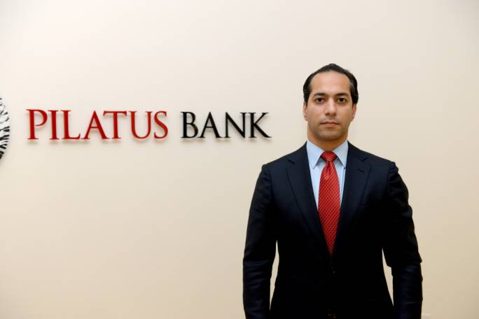 Pilatus Bank chairman Syed Ali Hasheminejed: the private bank got a licence in 2014 and is believed to host various Azerbaijani businessmen and acolytes of the Aliyev ruling dynasty