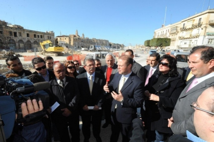 Labour leader Joseph Muscat (right) is standing by his MP Charles Buhagiar.