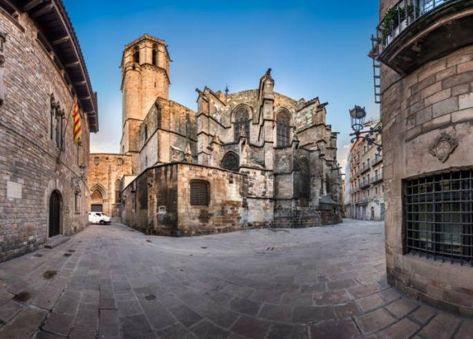 The Gothic Quarter is a maze of narrow streets that open up onto sunny squares