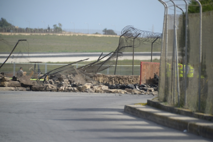 The road is still closed to motorists and pedestrians (Photo: Chris Mangion/MaltaToday)
