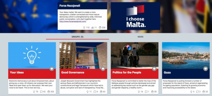 The PN's new online platform allows citizens to submit their policy ideas for public discussion