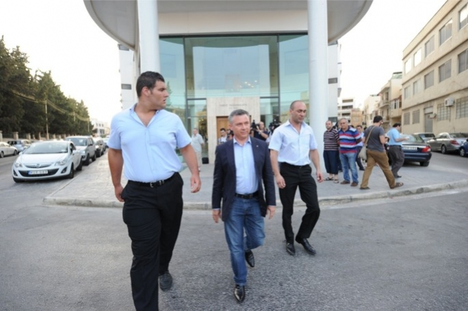 Nationalist MP Jeffrey Pullicino Orlando exiting the PN headquarters. Photo: Ray Attard/Mediatoday