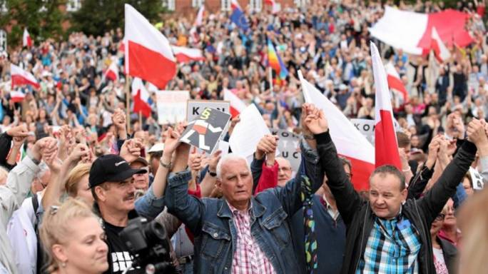 Poland protests against European Commission's interference saying EU's fears about its court reform are 'unfounded'