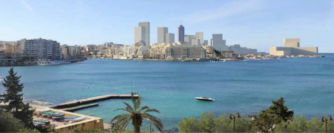Photomontage shows development on the Portomaso land reclamation site completely replacing the iconic view of the Dragonara casino when seen from Sliema
