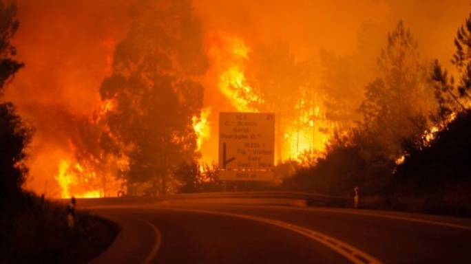 Two Brits treated after Portugal fires