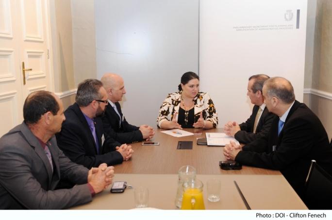 Parliamentary Secretary Deborah Schembri meets members of the General Workers Union