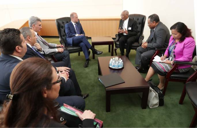 Muscat meeting with President of Guyana, David Granger (Photo: DOI/Omar Camilleri)