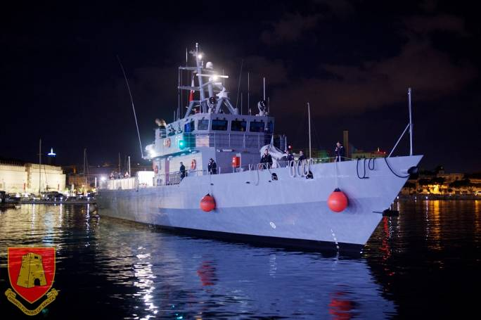 The offshore patrol vessel (OPV) P61 (Photo: the Armed Forces of Malta)