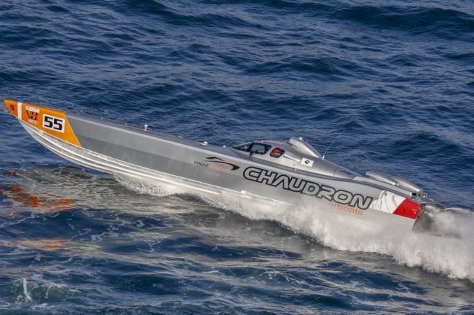 Team Chaudron - on the 13-metre Chaudron Canopy 41 model - challenges for another World title in the U.A.E. Grand Prix.
