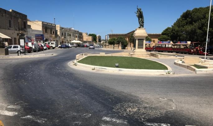 The roadworks will include the square in front of the Roman Villa
