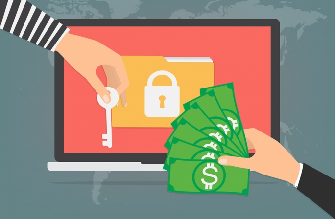 Ransomware, a relatively new type of malware or virus, prevents the user from accessing his data, displaying a splash screen giving instructions on how to pay ransom in order to restore access
